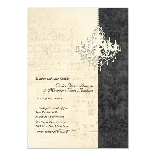 Chandelier Wedding Invitations  Chandelier Wedding Invitations