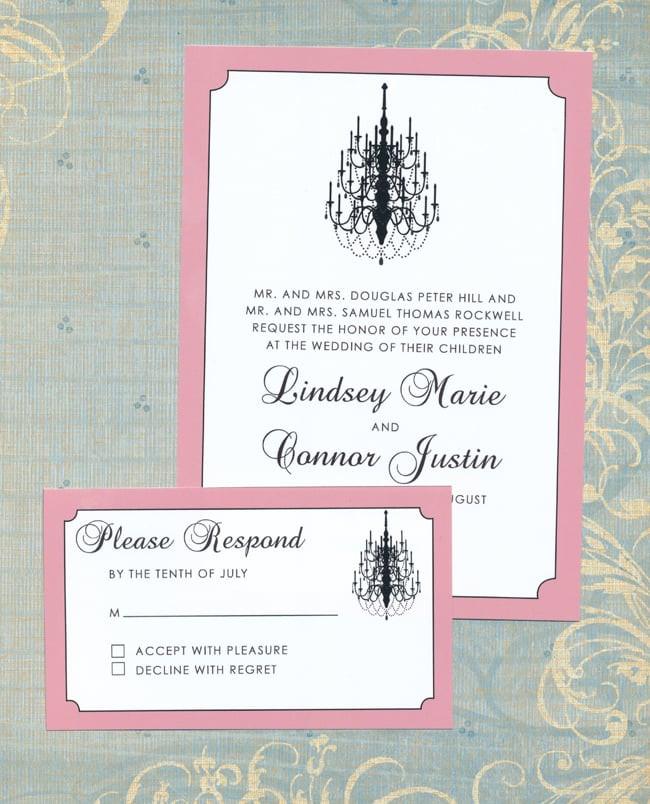 Chandelier Wedding Invitations  Chandelier Wedding Invitation