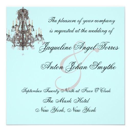 "Chandelier Wedding Invitations  Versailles Chandelier Wedding Invitations 5 25"" Square"