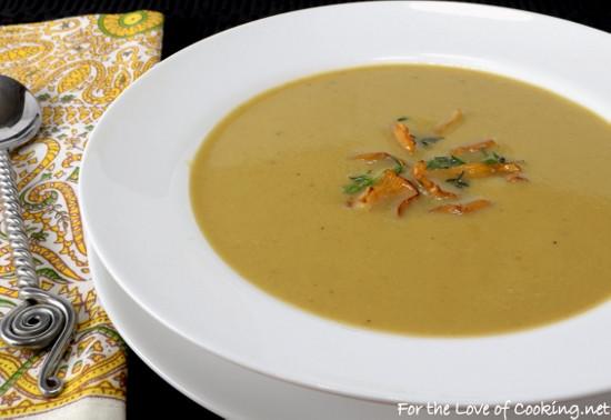 Chanterelle Mushrooms Soup  Creamy Chanterelle Mushroom Soup