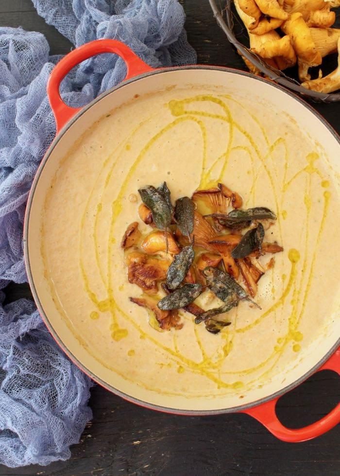 Chanterelle Mushrooms Soup  Wild Chanterelle Mushroom Soup Recipe • CiaoFlorentina