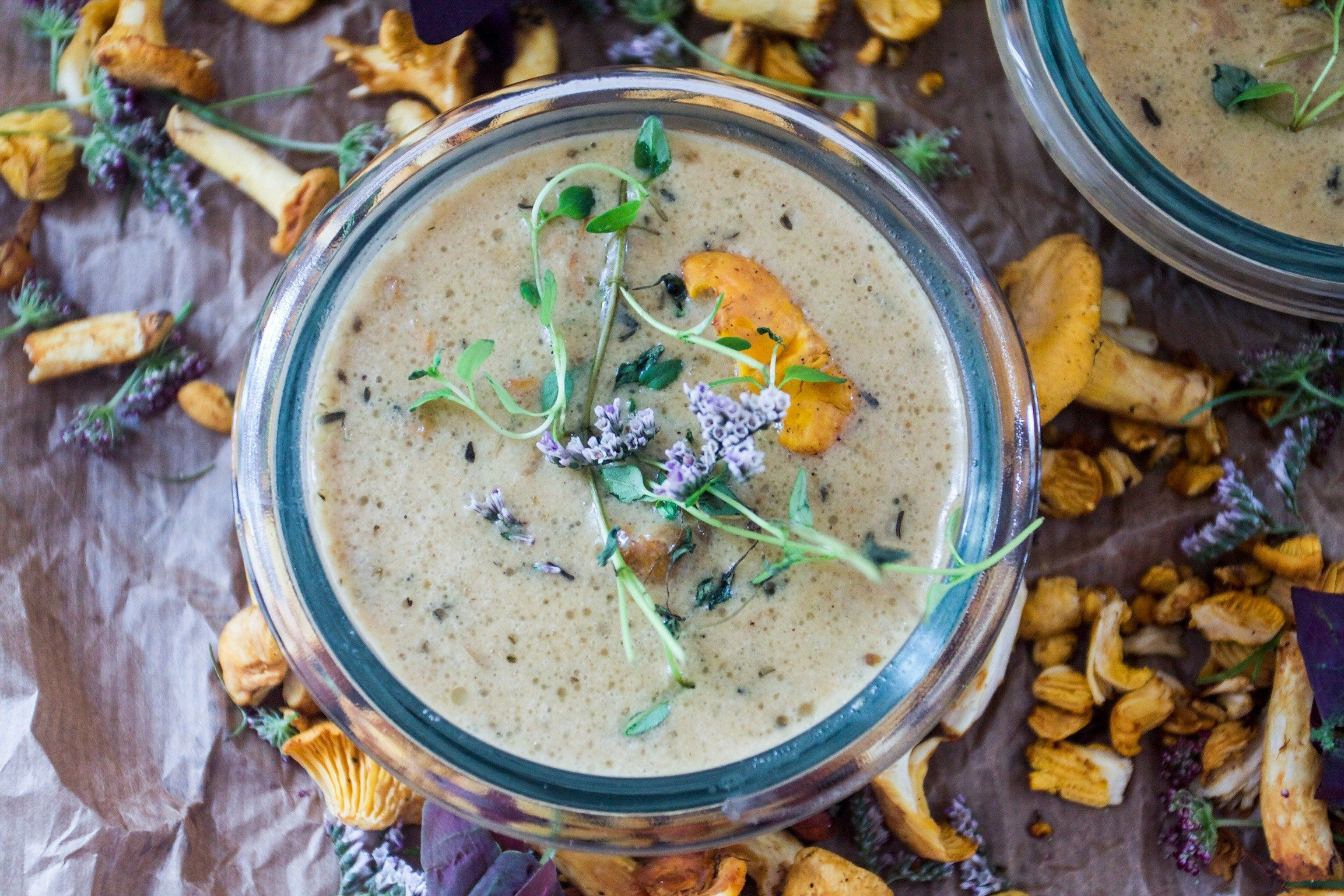 Chanterelle Mushrooms Soup  Creamy Chanterelle mushroom soup Recipe