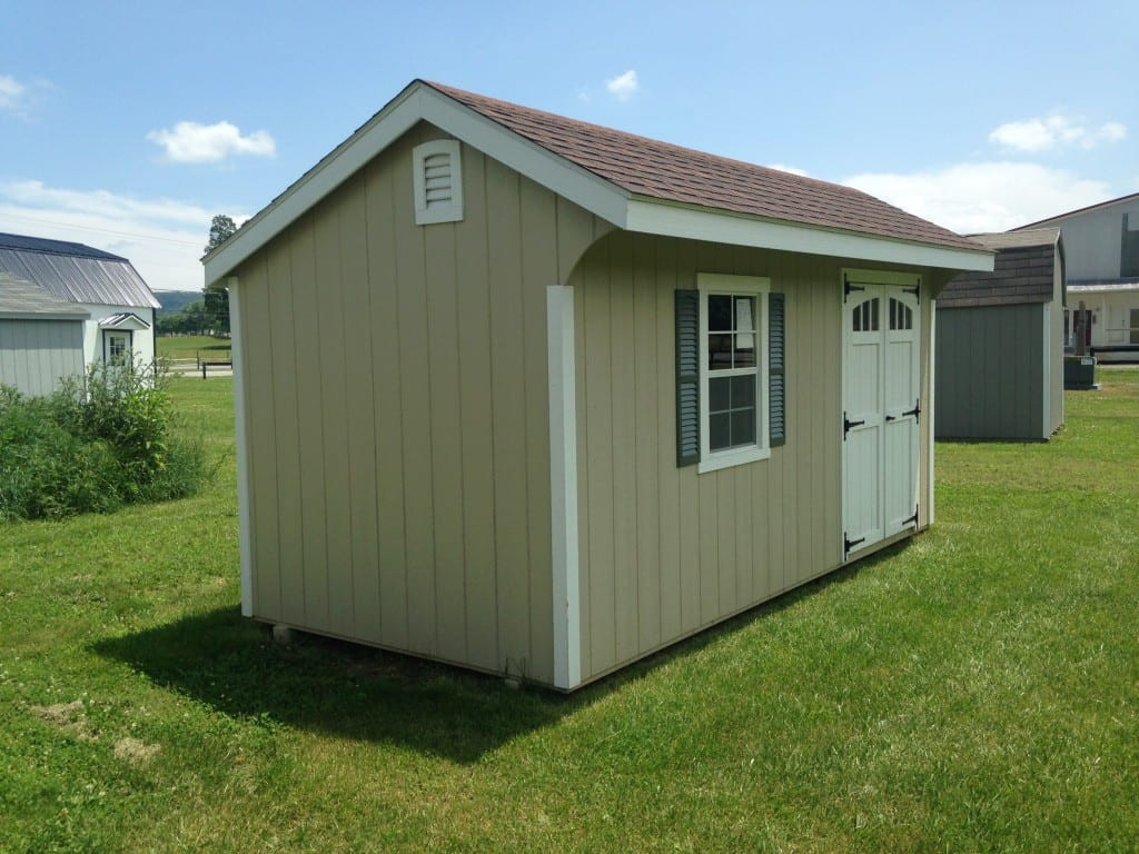 Cheap Backyard Sheds  1986 8×16 Quaker Deluxe Shed For Sale Cheap $2954