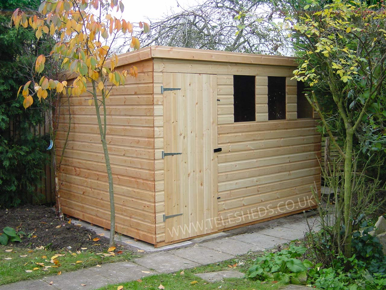 Cheap Backyard Sheds  Pent Shed