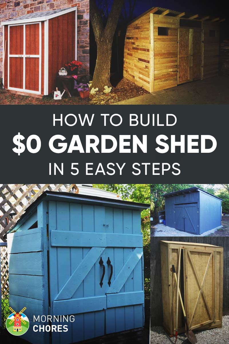 Cheap Backyard Sheds  How To Build a Free Garden Storage Shed 8 More