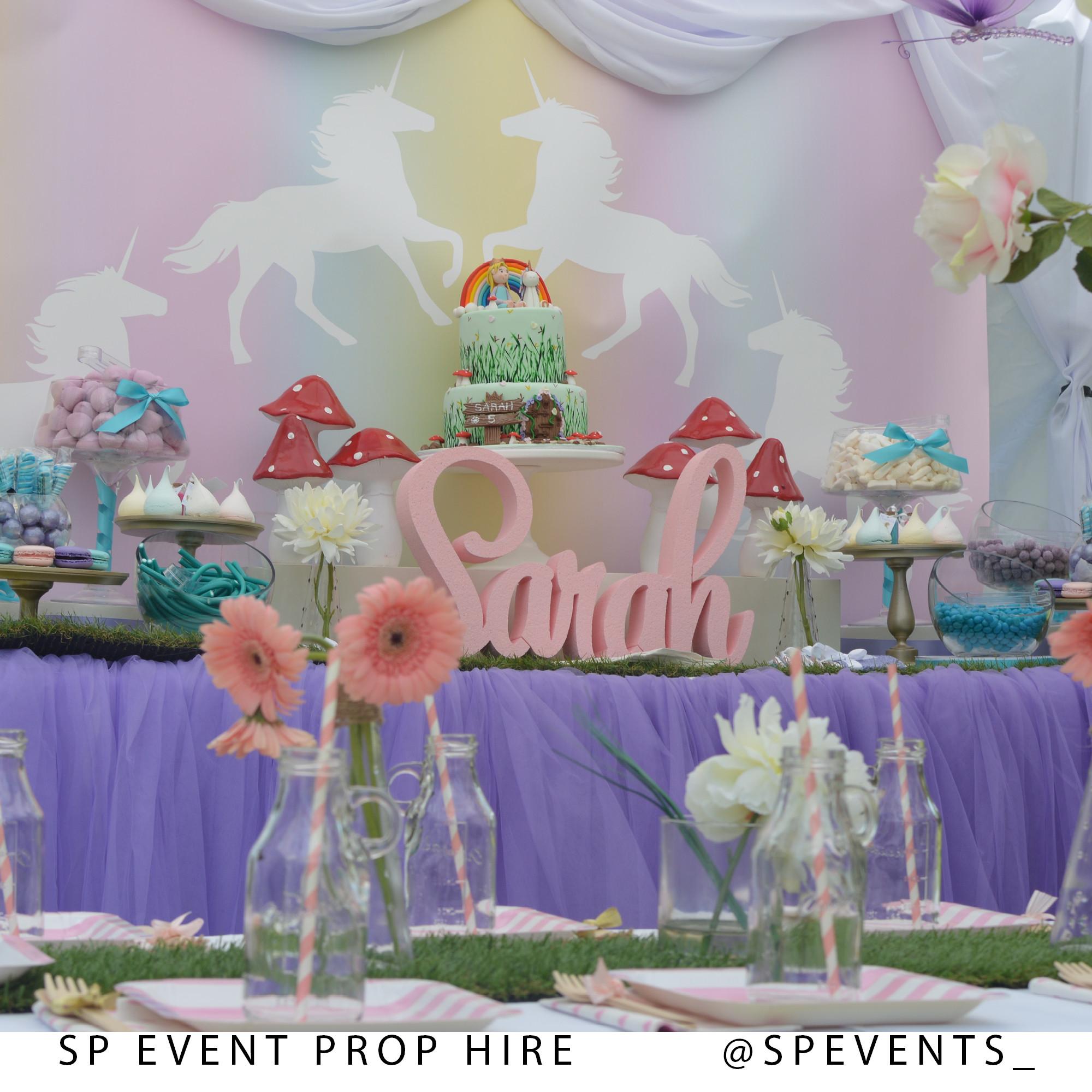 Cheap Engagement Party Ideas Sydney  Unicorn Theme Little Girls Birthday Party