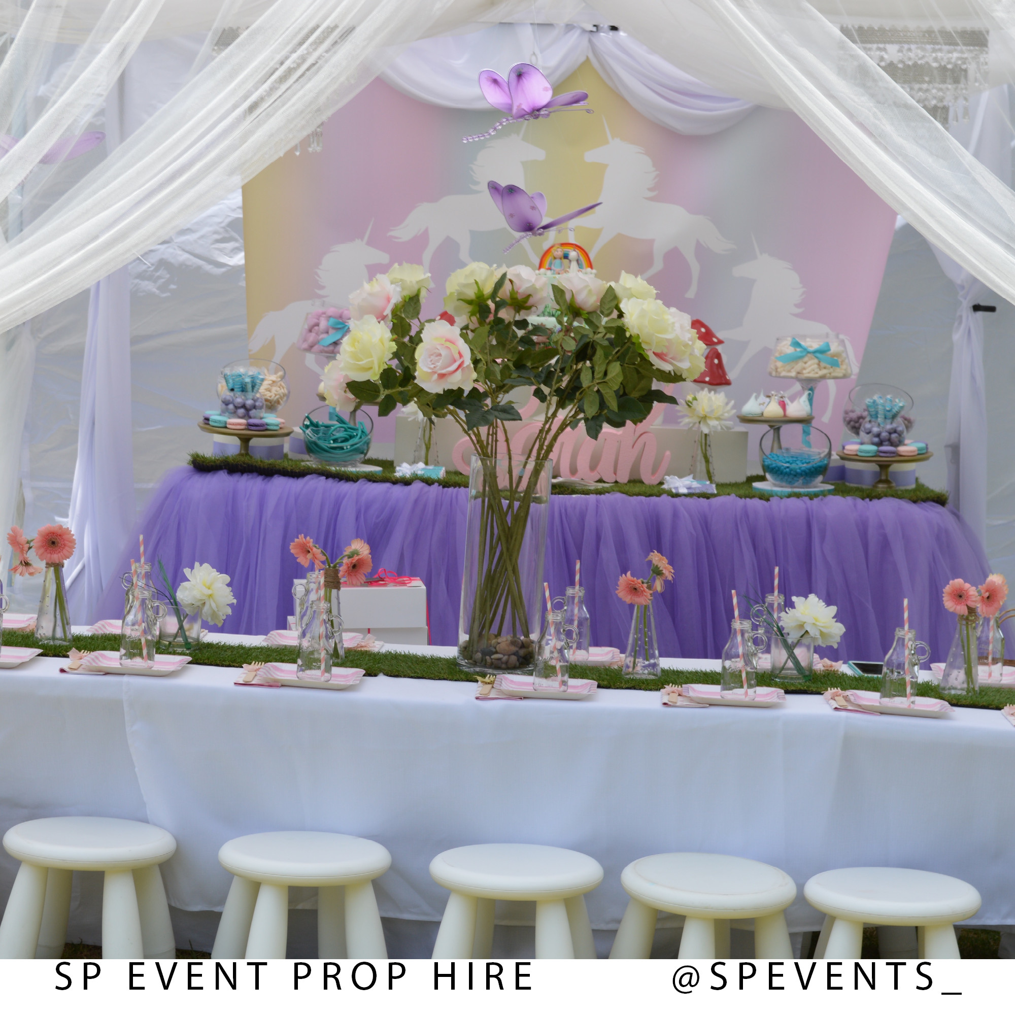 Cheap Engagement Party Ideas Sydney  Unicorn Theme Kids Birthday Party Props by SP Events