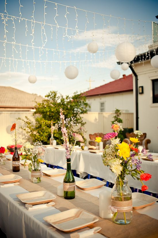 Cheap Engagement Party Ideas Sydney  Idea for January party Love the day to night styling of