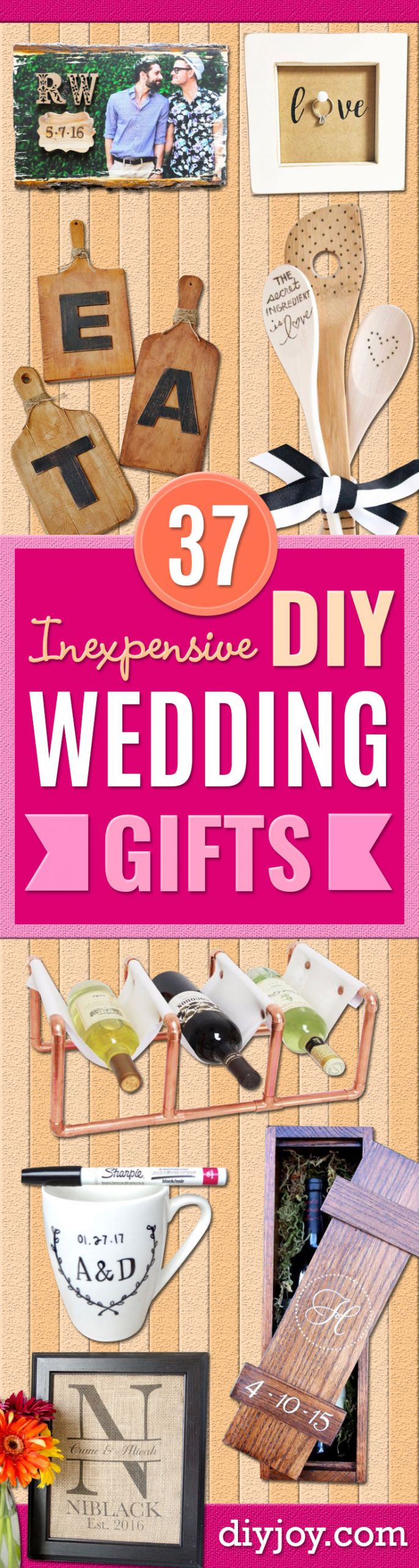 Cheap Gift Ideas For Couples  37 Expensive Looking DIY Wedding Gifts That Are Sure To