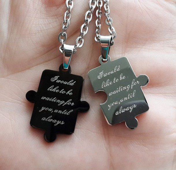 Cheap Gift Ideas For Couples  jewels his and hers necklaces anniversary ts cheap