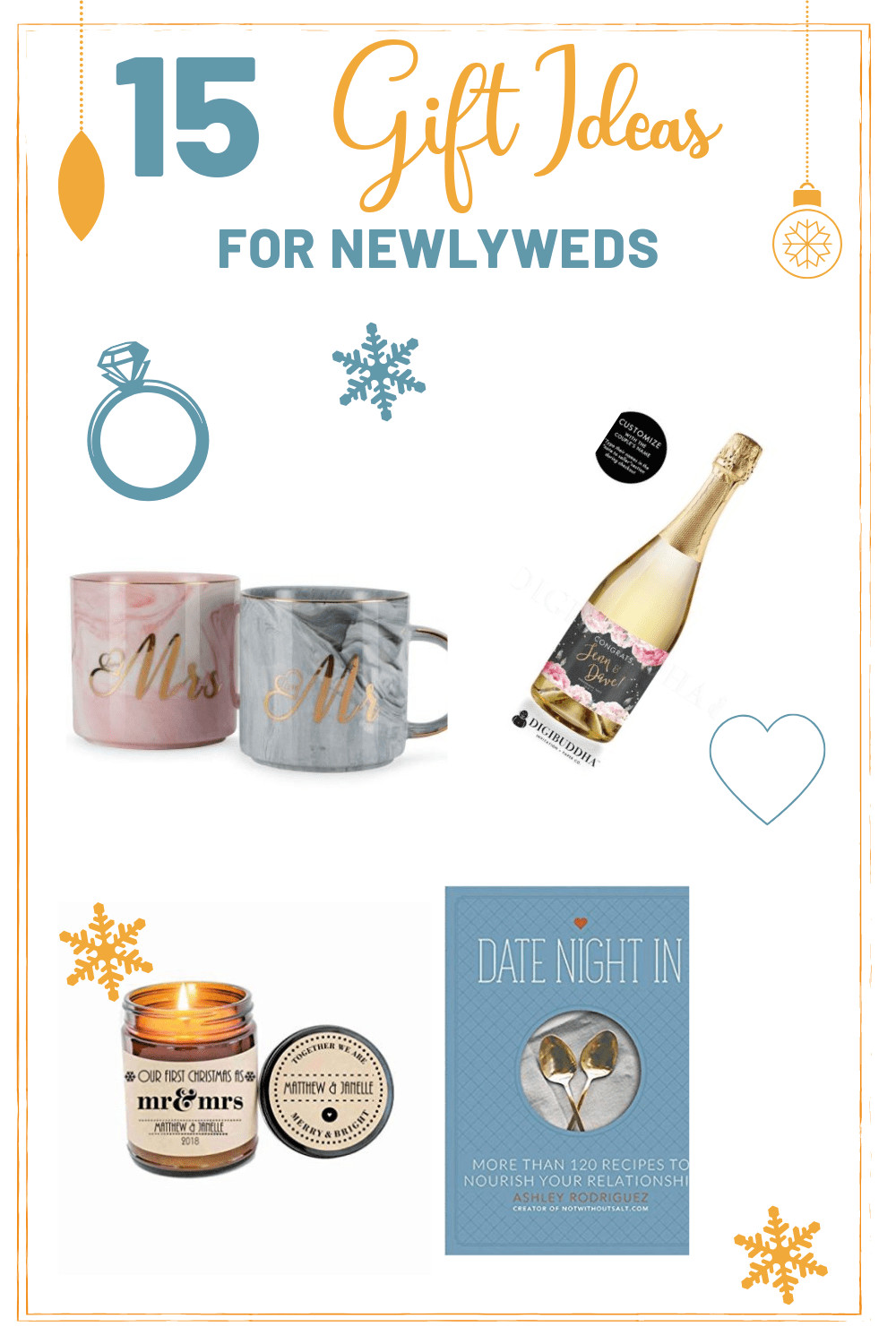 Cheap Gift Ideas For Couples  15 Christmas Gift Ideas For Newlyweds With images