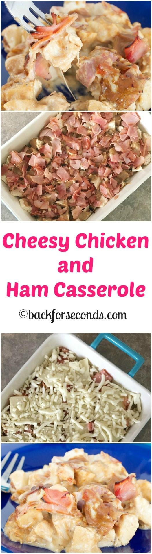Chicken And Ham Casserole  Cheesy Chicken and Ham Bake