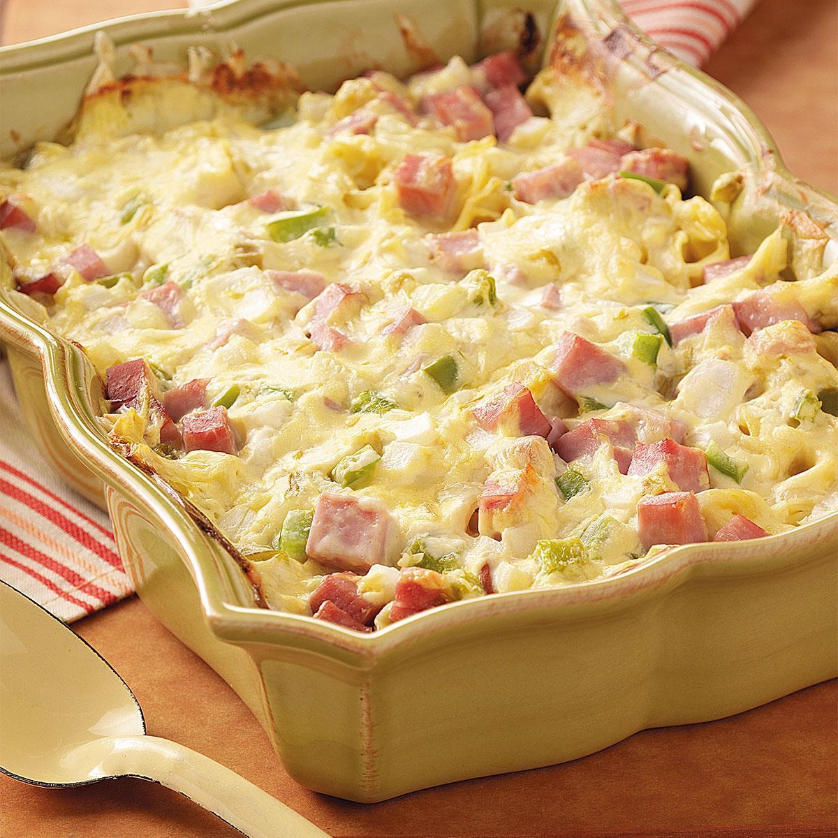 Chicken And Ham Casserole  Ham and Swiss Casserole Recipe