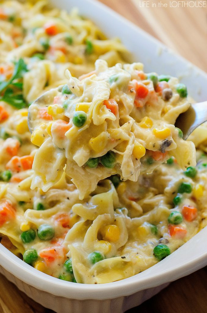 Chicken And Ham Casserole  Chicken Noodle Casserole Life In The Lofthouse
