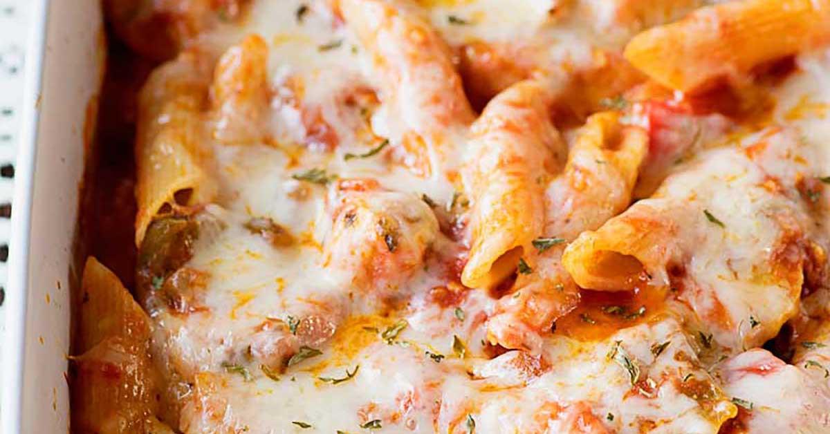 Chicken Penne Casserole  Chicken Penne Casserole Homemade Hooplah