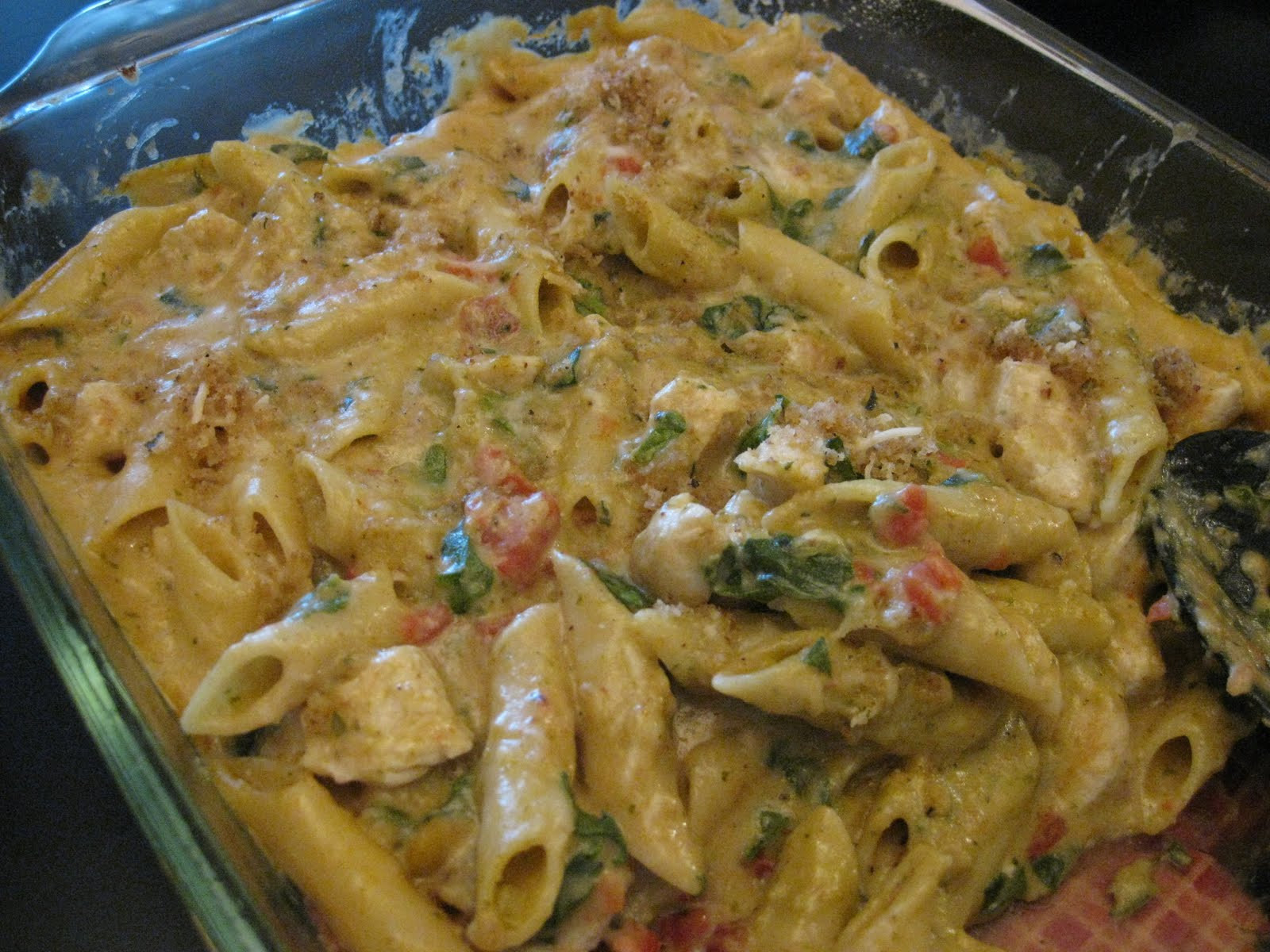 Chicken Penne Casserole  Writing Our Own Story Pesto Chicken Penne Casserole