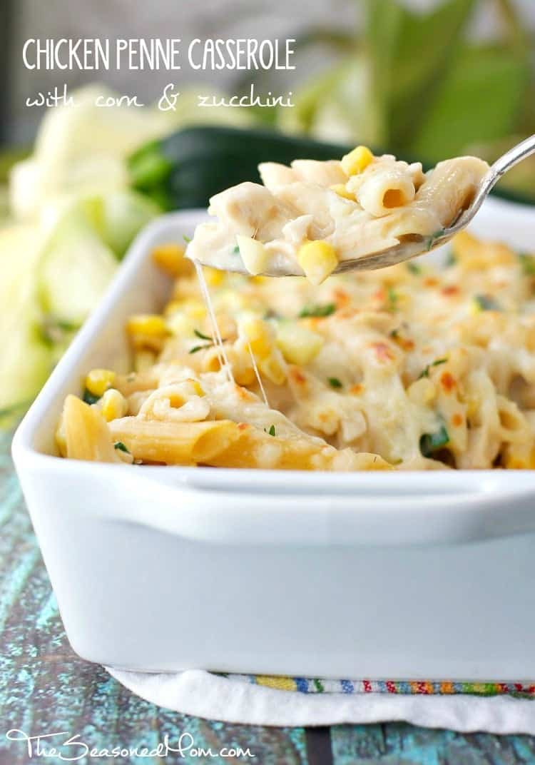 Chicken Penne Casserole  Chicken Penne Casserole with Corn and Zucchini The