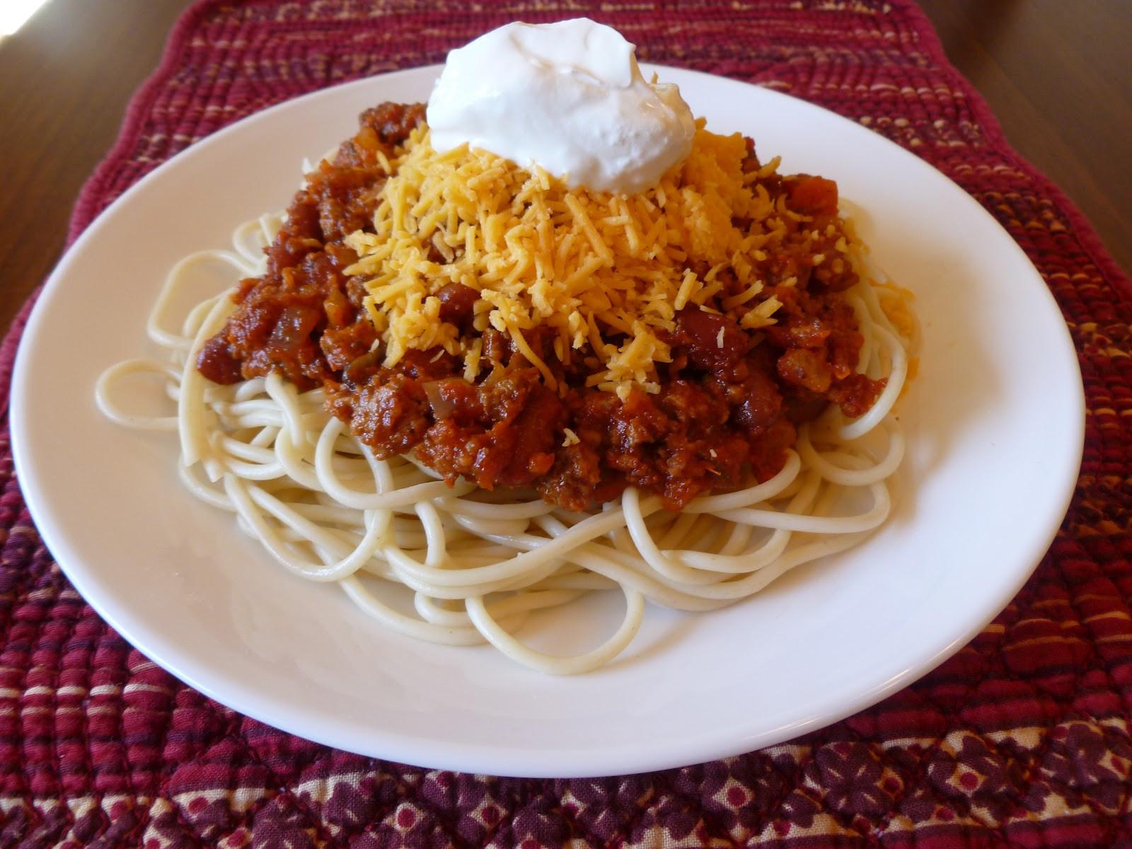 Chili On Spaghetti  Chili Spaghetti Joyful Homemaking