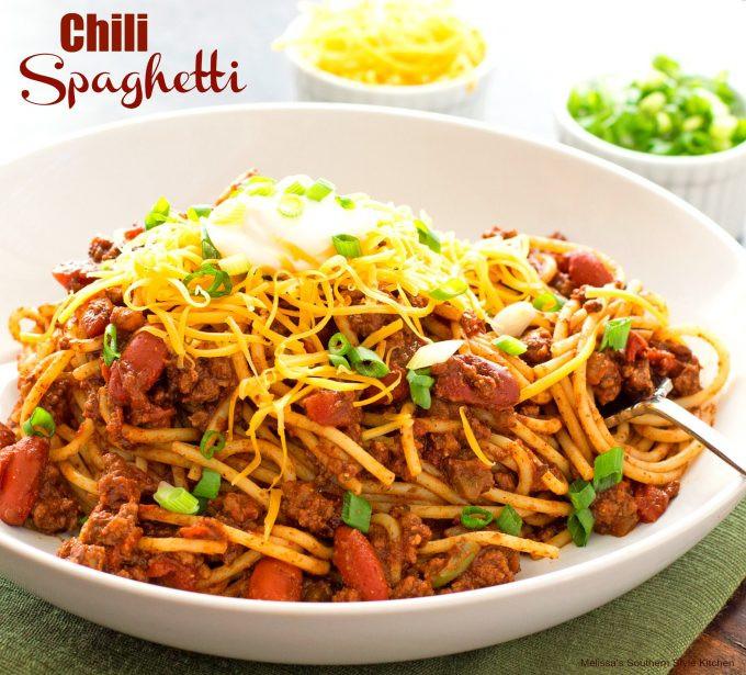 Chili On Spaghetti  Chili Spaghetti melissassouthernstylekitchen