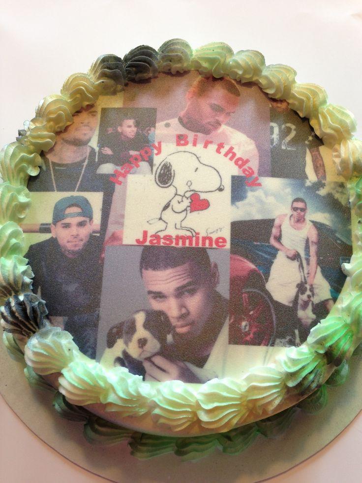 Chris Brown Birthday Cake  My baby girls birthday cake I luv u Jazz Chris Brown