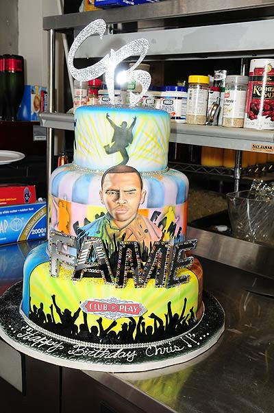 Chris Brown Birthday Cake  ALLYSHAMS BLOG