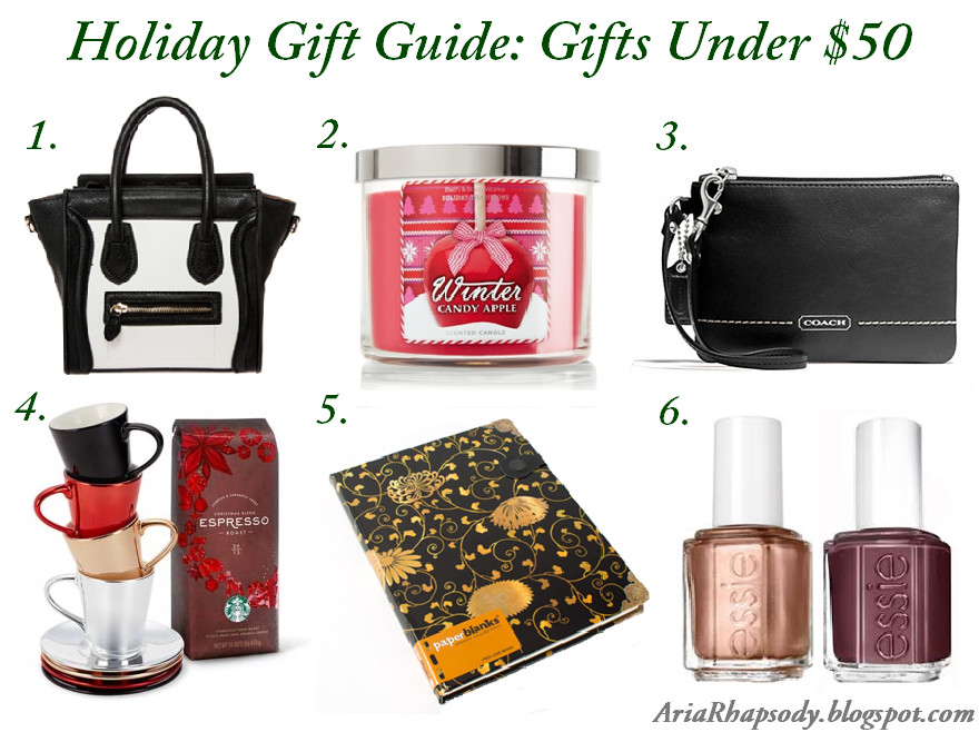 Christmas Gift Ideas For Couples Under 50  AriaRhapsody Holiday Gift Guide Gifts Under $50