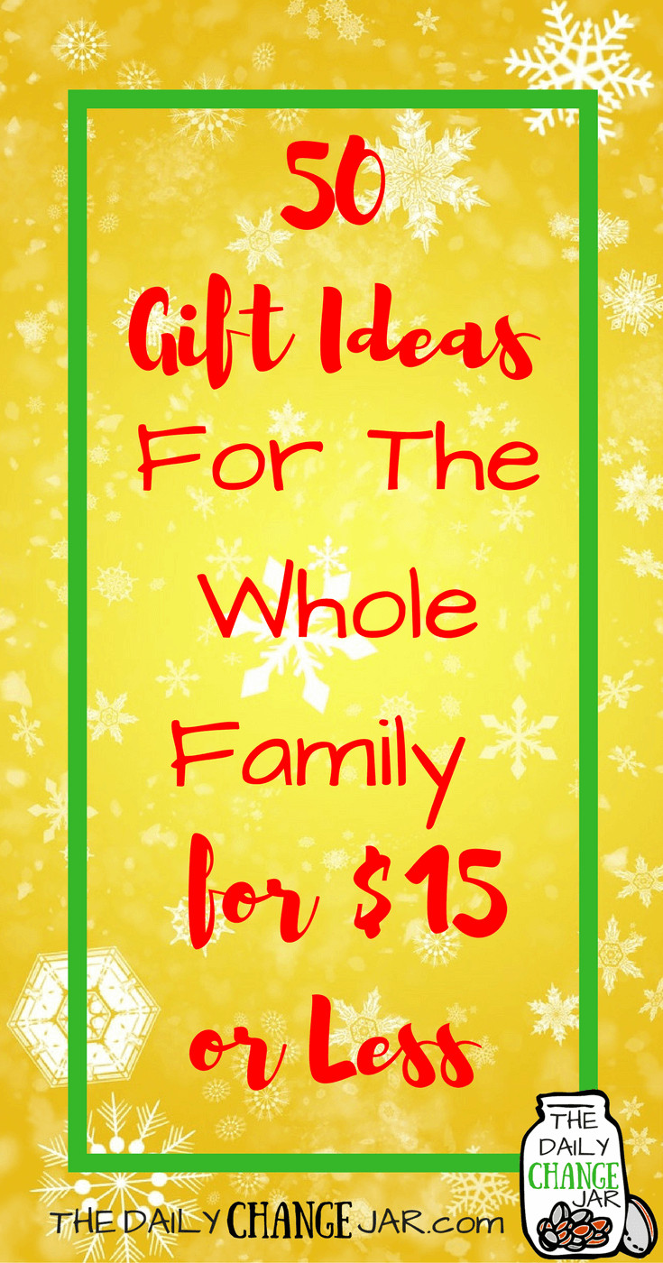 Christmas Gift Ideas For Couples Under 50  50 Gift Ideas $15 or Less for the Whole Family The Daily