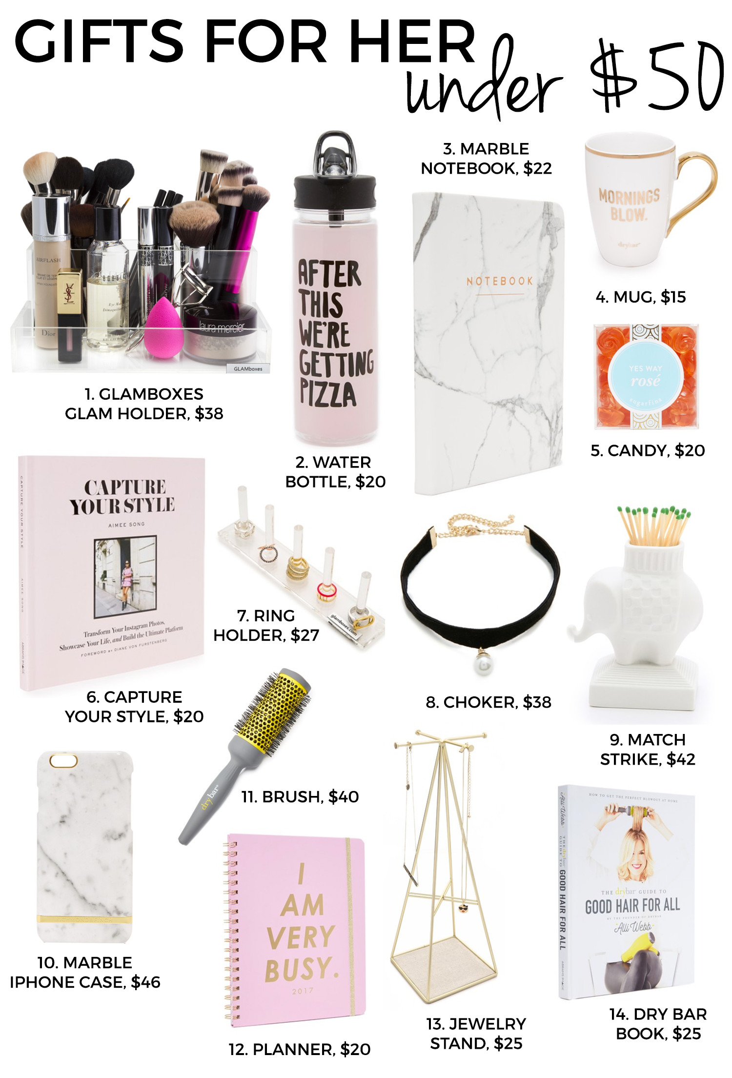 Christmas Gift Ideas For Couples Under 50  Holiday Gifts For Her Gifts For Under $50