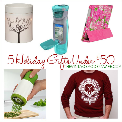 Christmas Gift Ideas For Couples Under 50  5 Unique Holiday Gift Ideas under $50 The Vintage Modern