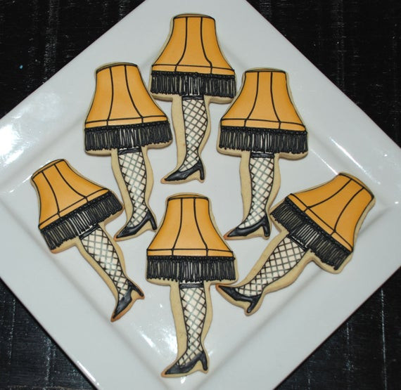 Christmas Story Leg Lamp Cookies  A Christmas Story Leg Lamp Cookies e Dozen by