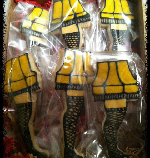 Christmas Story Leg Lamp Cookies  A Christmas Story Leg Lamp Cookie Gift Set