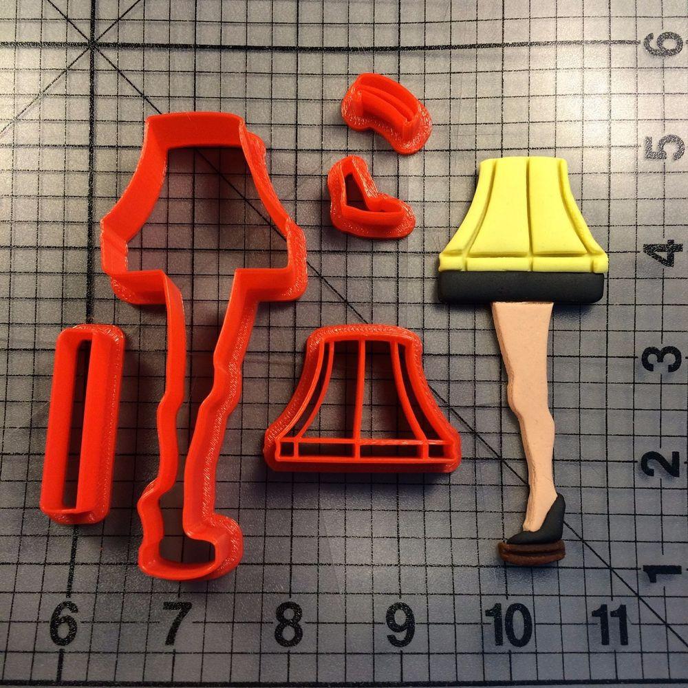 Christmas Story Leg Lamp Cookies  Leg Lamp 101 Cookie Cutter Set