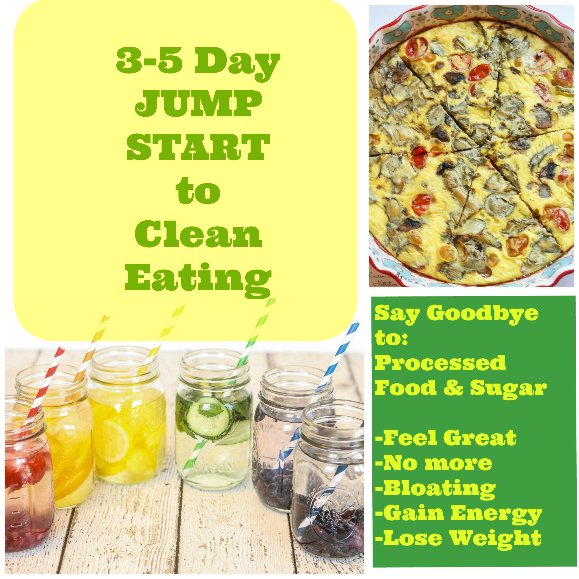 Clean Eating Diet Weight Loss  Three – Five Day Jump Start to Clean Eating and Grocery List