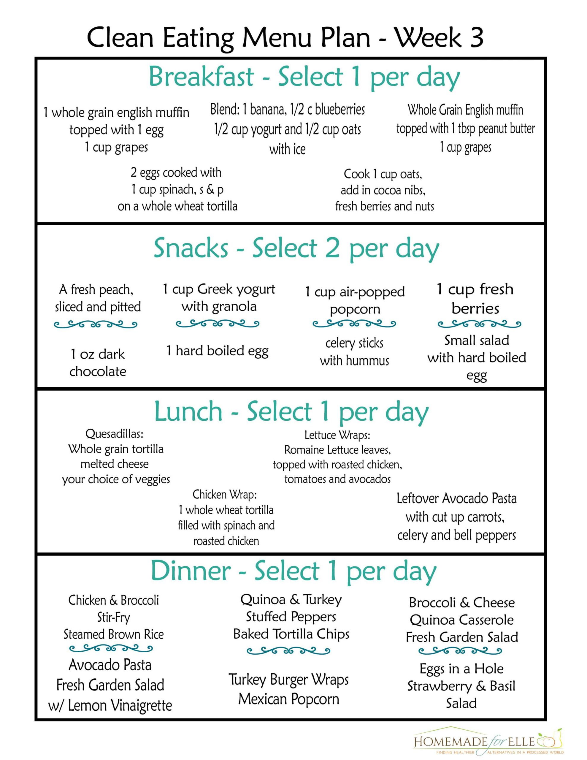 Clean Eating Meal Plans On A Budget  Clean Eating Meal Plan PDF with recipes your family will