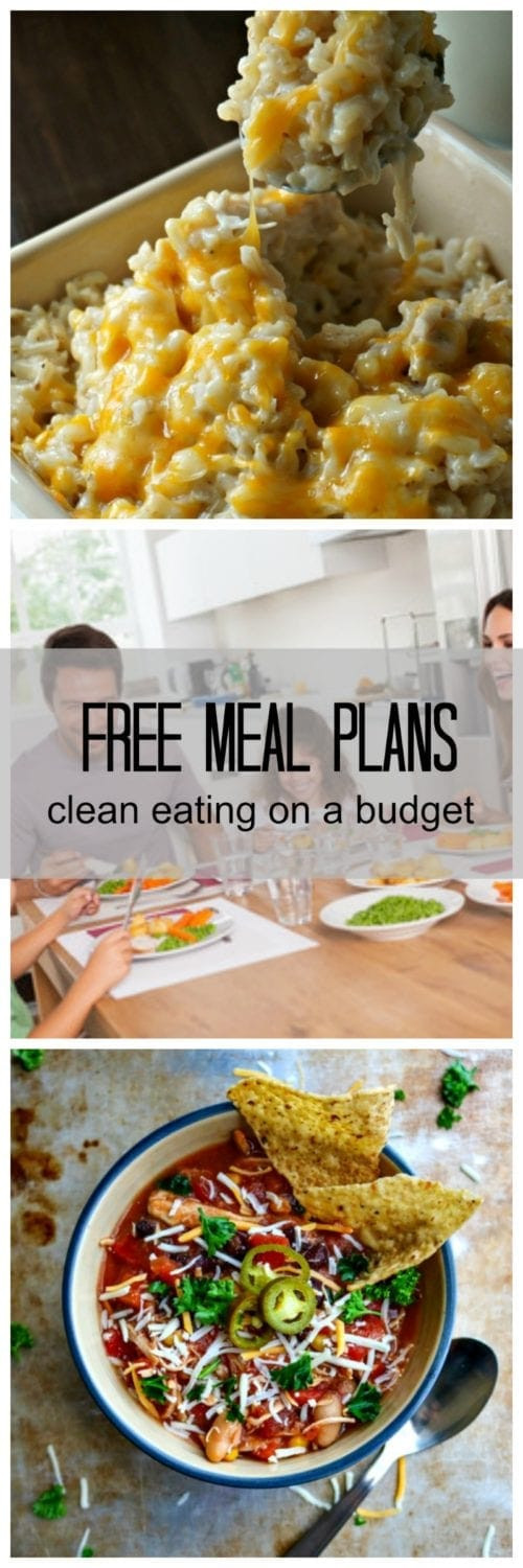 Clean Eating Meal Plans On A Budget  Free Meal Plans Clean Eating Family Approved Bud
