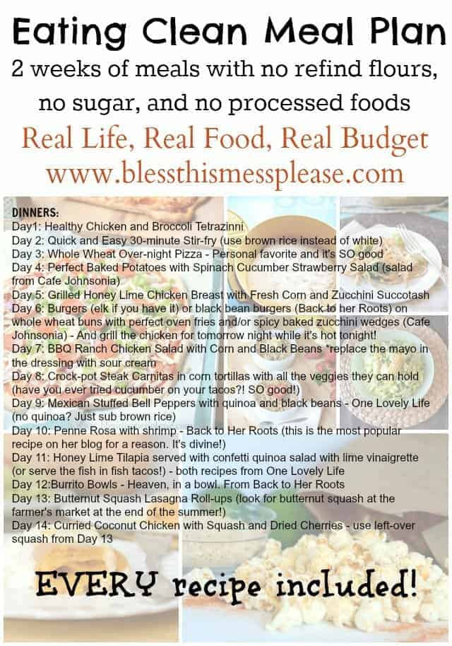 Clean Eating Meal Plans On A Budget  12 week workout plan t meal plans on a bud what