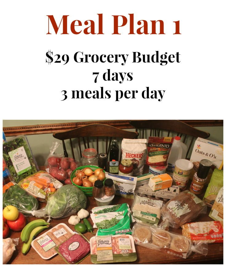 Clean Eating Meal Plans On A Budget  $29 Grocery Bud Challenge Meal Plan 1 Real The