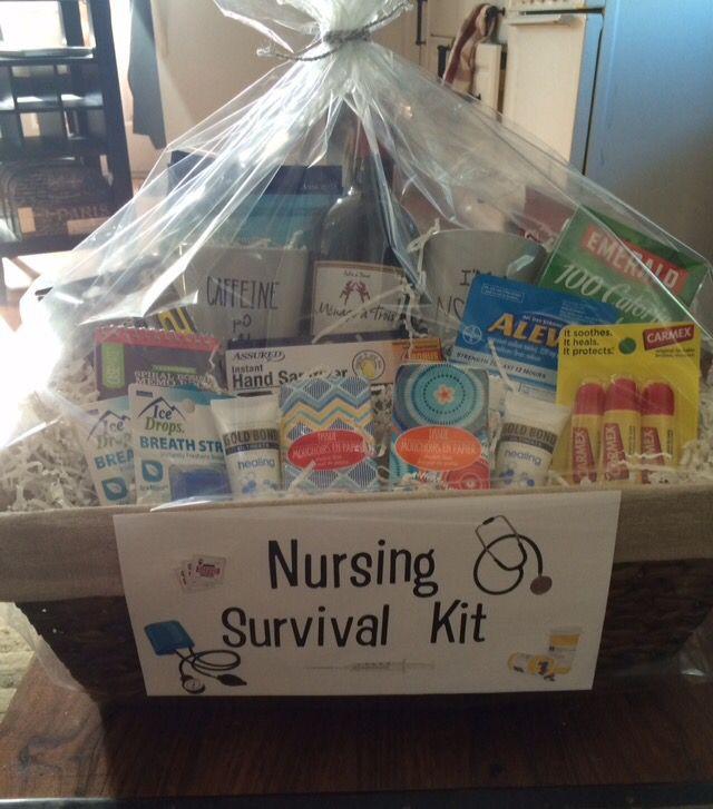 College Graduation Gift Ideas For Nurses  Nurse graduation t basket Everything a new nurse will