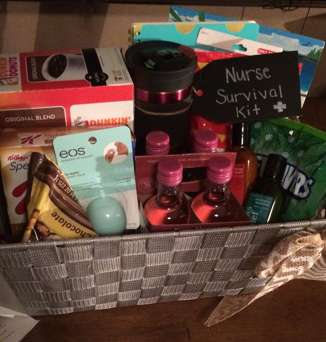 College Graduation Gift Ideas For Nurses  Nurse survival kit Graduation t