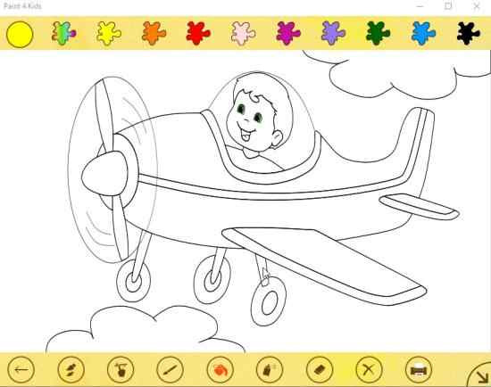 Coloring Apps For Kids  Windows 10 Coloring App for Kids with Preset Coloring Sheets