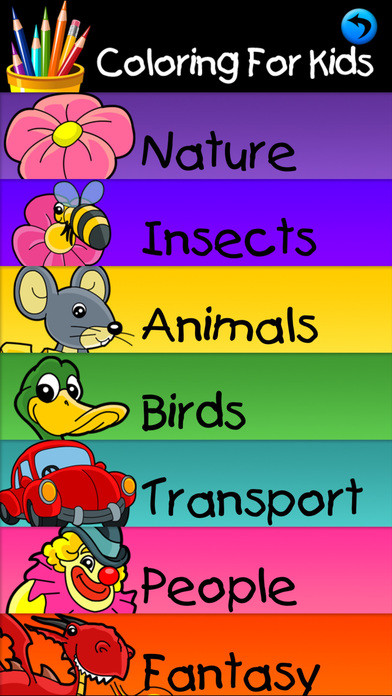 Coloring Apps For Kids  Coloring Pages For Kids Educational Color Book App