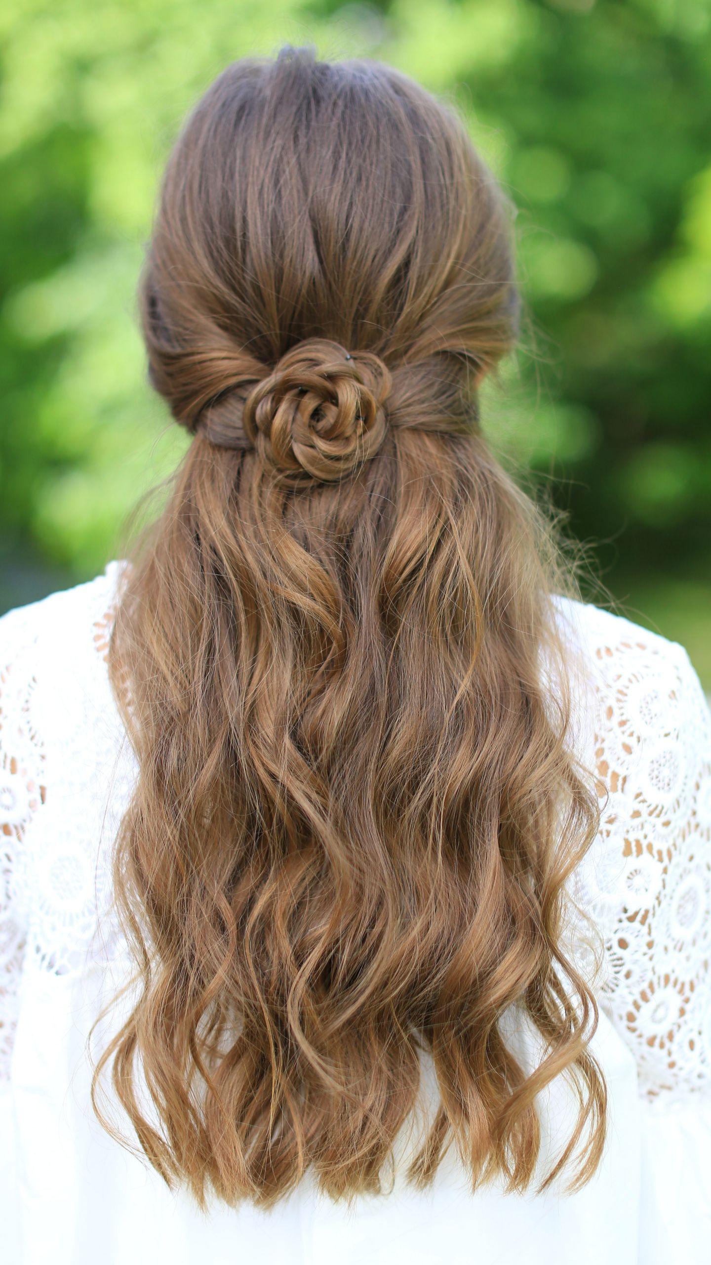 Cool Easy Hairstyles  Rosette Tieback