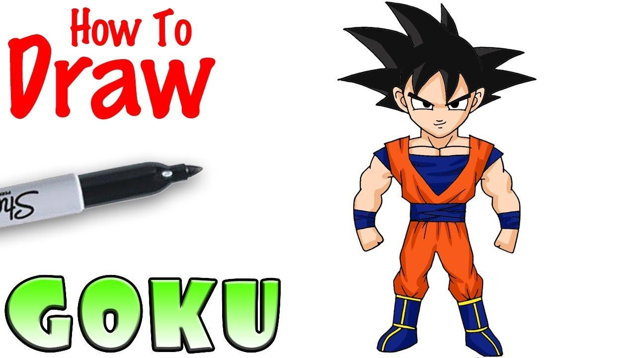 Cool Kids Art  How to Draw Goku