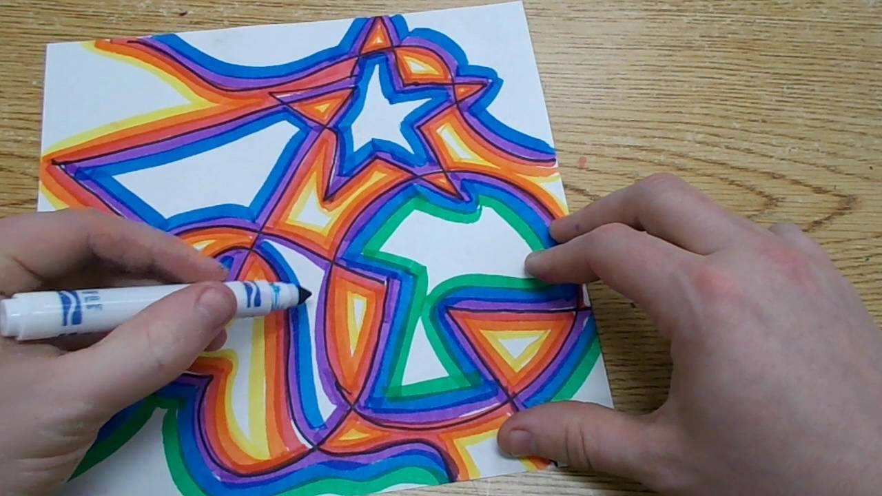 Cool Kids Art  Kids Art Project Abstract Shapes with Warm & Cool Colors