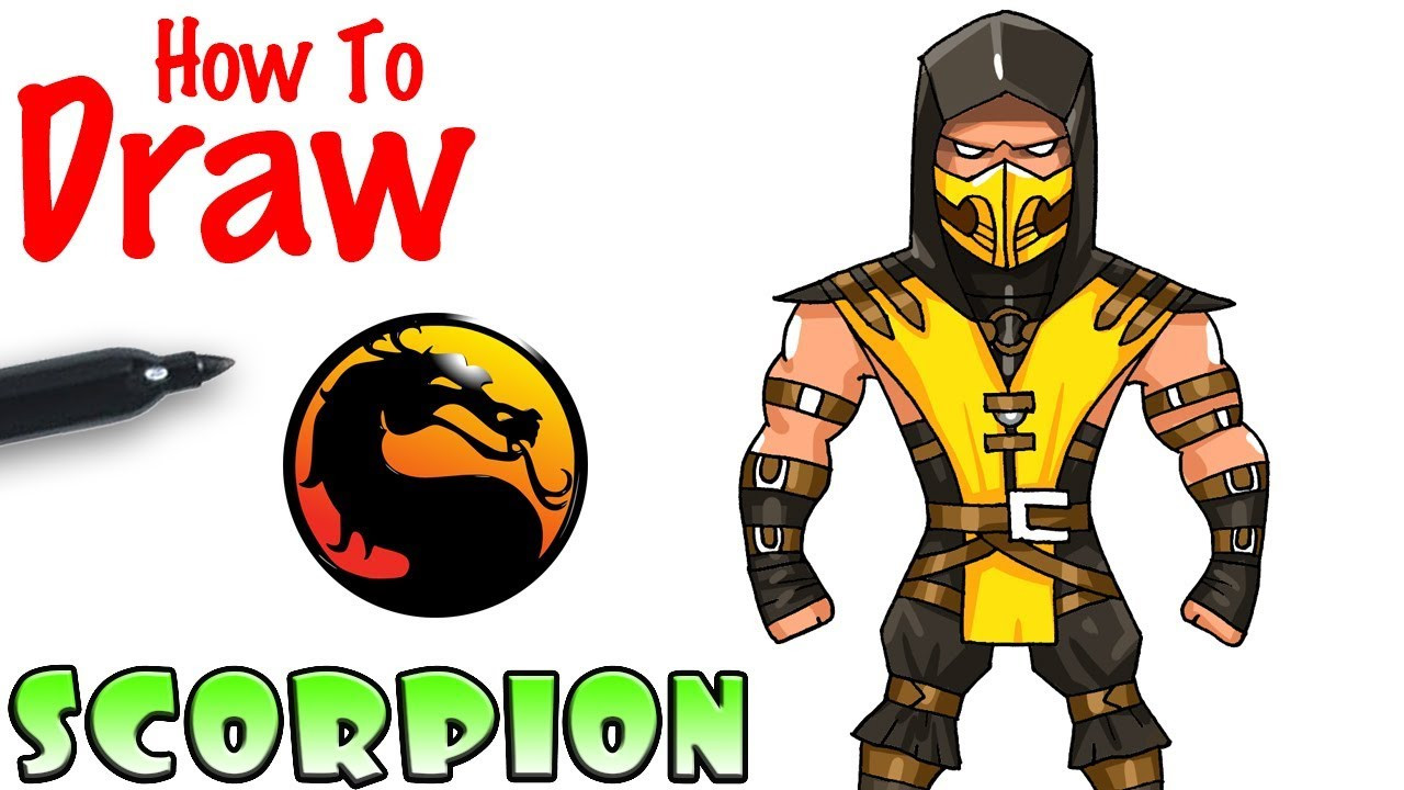 Cool Kids Art  How to Draw Scorpion