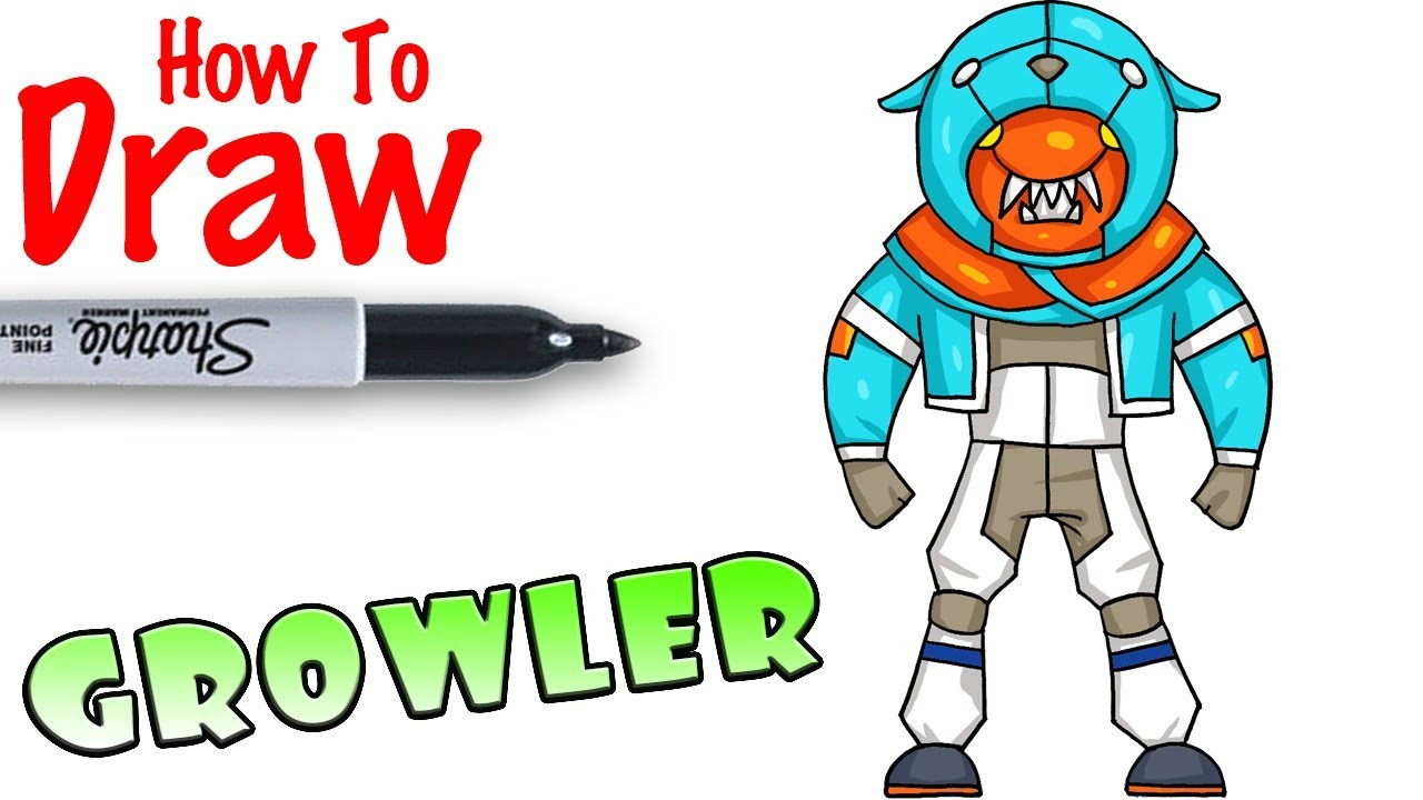 Cool Kids Art  How to Draw Growler