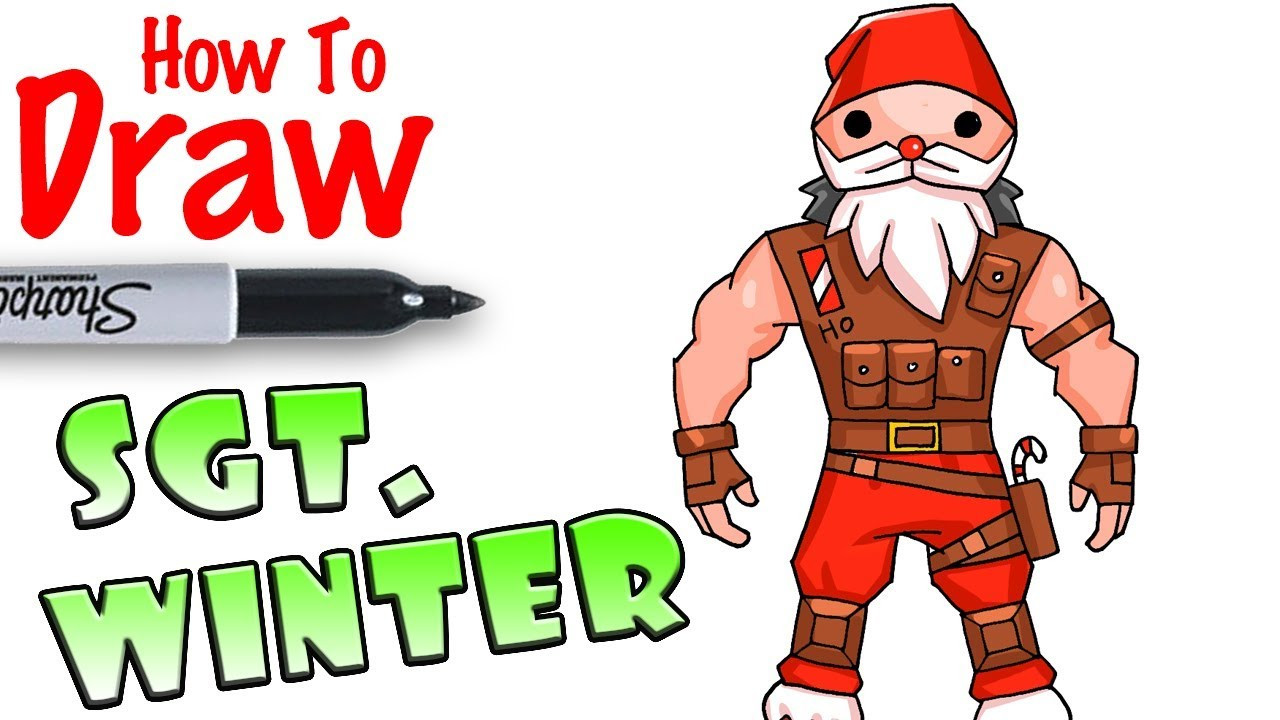Cool Kids Art  How to Draw Sgt Winter