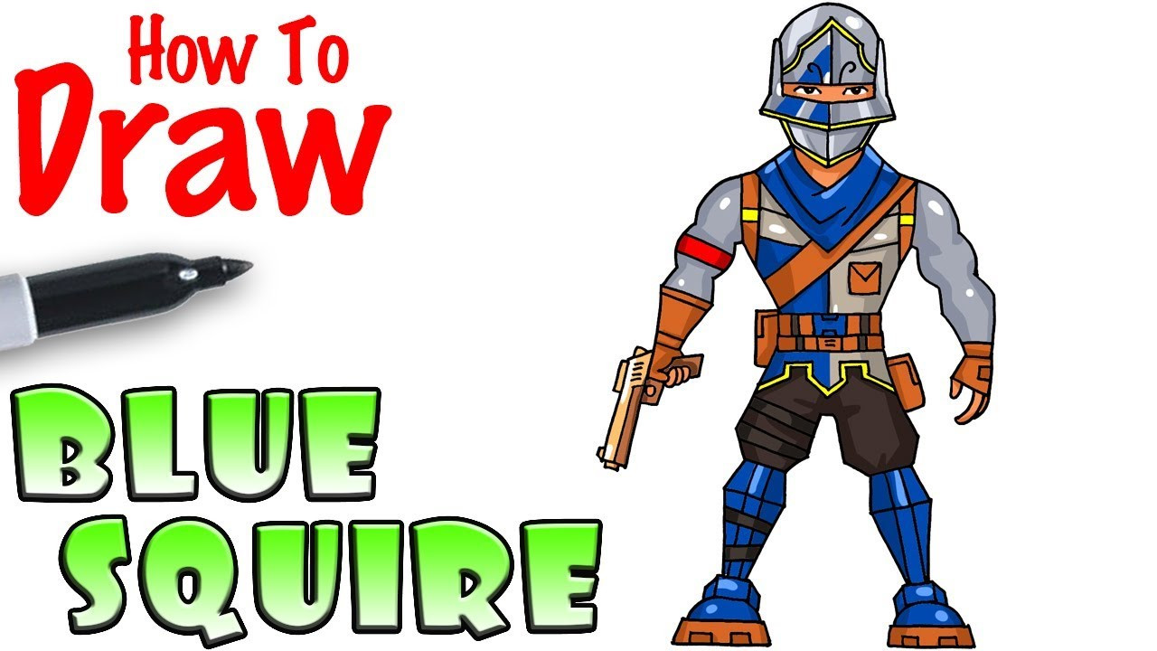 Cool Kids Art  How to Draw Blue Squire