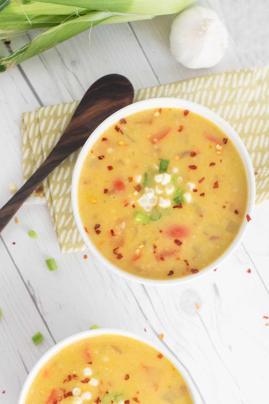 Corn Chowder Vegetarian  Easy Vegan Corn Chowder • Plant Based Food Blog Vegan