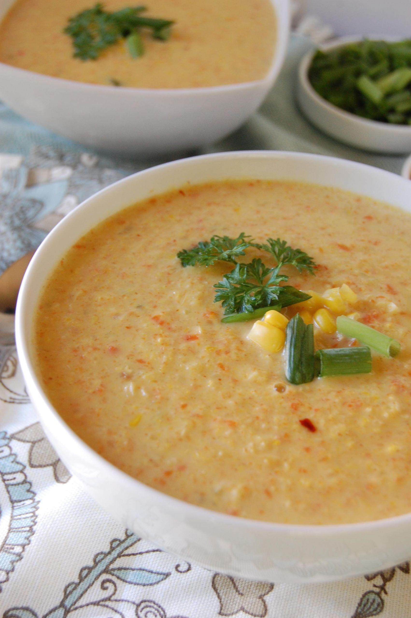 Corn Chowder Vegetarian  Ve able Corn Chowder A Cedar Spoon